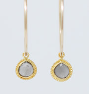 Hoops & Gray Moonstone Drops