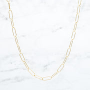 Goldfill Extra Large Paper Clip Layering Chain