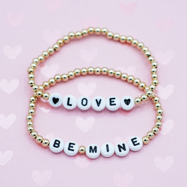 Name It 'Love' 4mm 14k Goldfill Bracelet