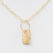 Goldfill Hammered Pendant Necklace