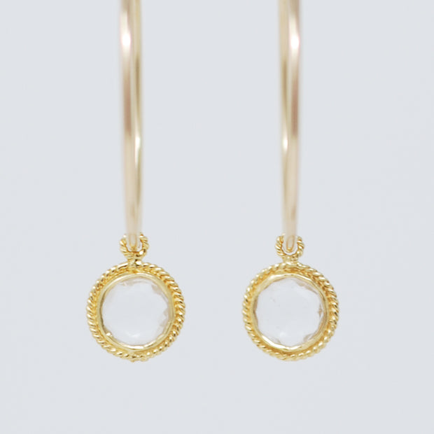 Hoops & Crystal Quartz Hoop Drops