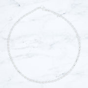 3mm & 4mm Sterling Silver Beaded Necklace
