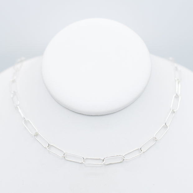 Sterling Silver Extra Large Paper Clip Layering Chain