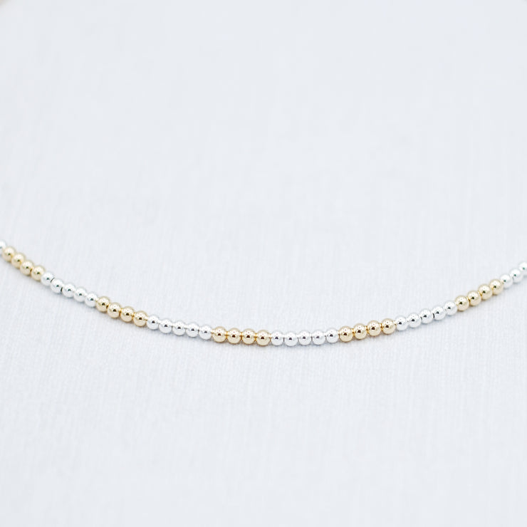Sterling Silver & Goldfill Beaded Necklace