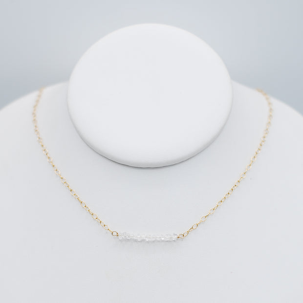 Herkimer Diamond & Goldfill Necklace