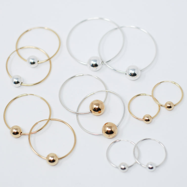 Hoops & Sterling Silver Ball Drops
