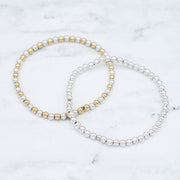 Sterling Silver & Mixed Metal Stretch Bracelet Set