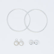 Hoop Earring & Drop Set