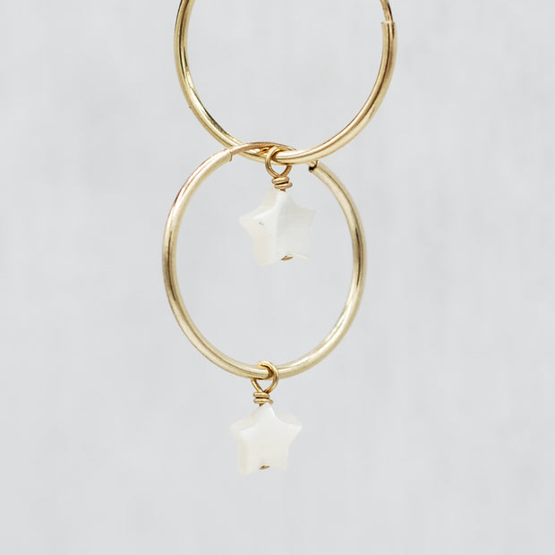 Hoops & Mother of Pearl Star Drops
