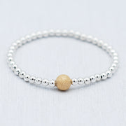 "Sterling Silver & ""Sparkle Ball"" Bracelet"