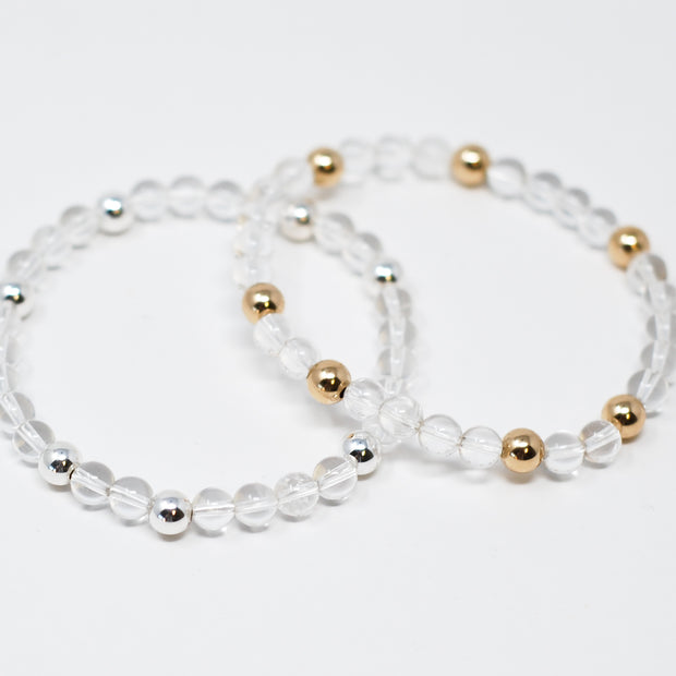 Crystal Quartz Bracelet Set