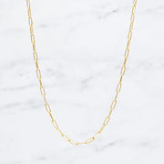 Goldfill Medium Paper Clip Layering Chain