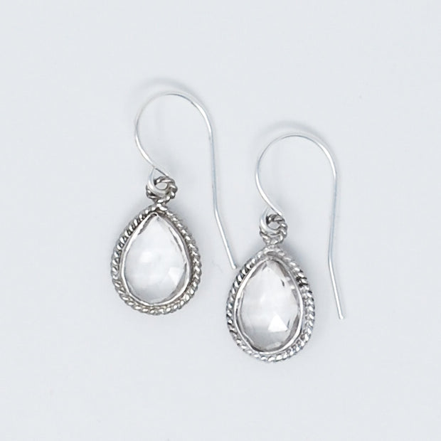 Crystal Quartz & Sterling Silver Earrings