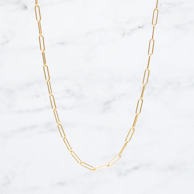 Goldfill Large Paper Clip Layering Chain
