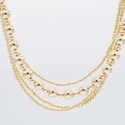 6mm & 10mm 14k Goldfill Beaded Necklace