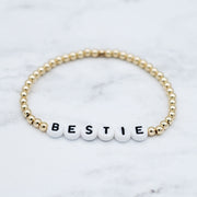 Name It 'Bestie' 4mm 14k Goldfill Bracelet