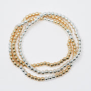 Mixed Metal Stretch Bracelet Set