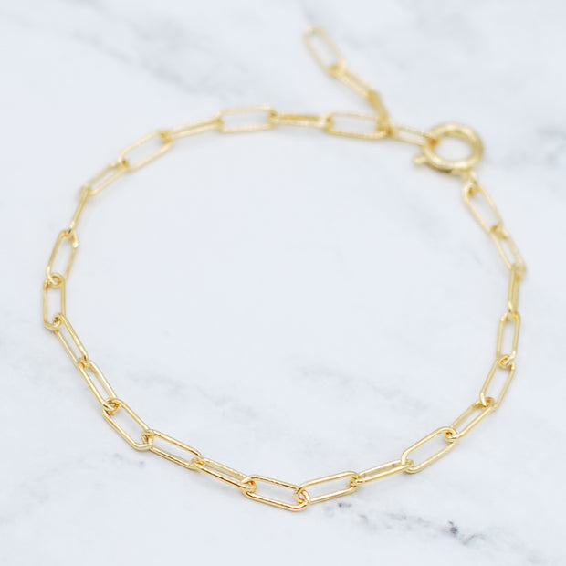 Goldfill Paperclip Chain Bracelet