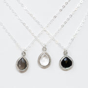 Black Onyx & Sterling Silver Necklace