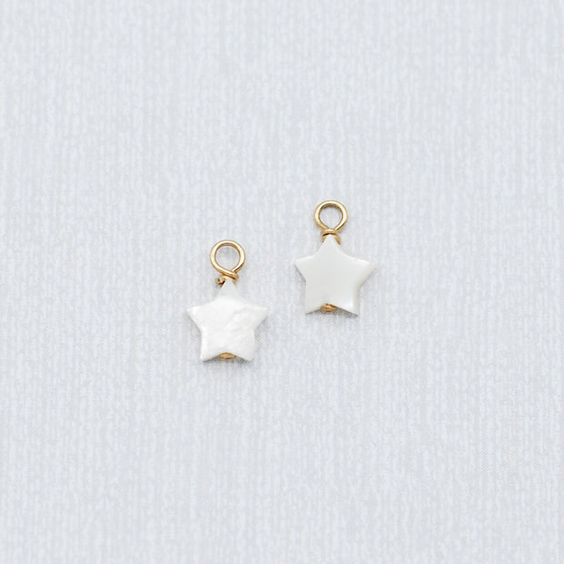 Mother of Pearl Star Hoop Drops