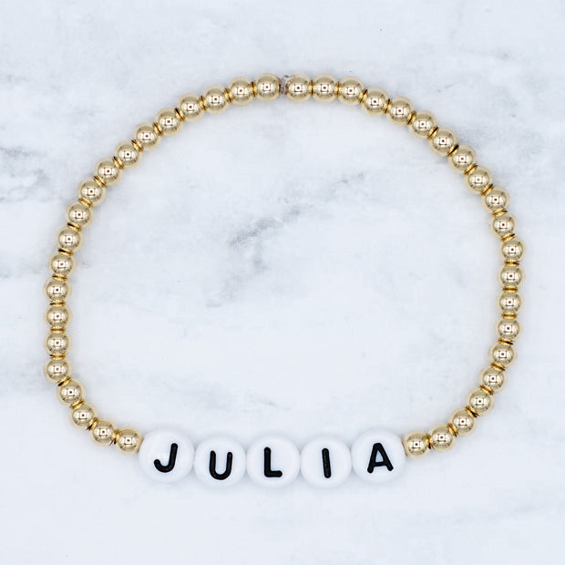 Name It 'Julia' 4mm 14k Bracelet