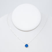 Bright Blue Druzy Necklace