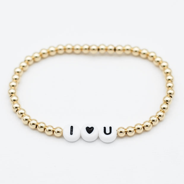Name It 'I Love You' 4mm 14k Bracelet