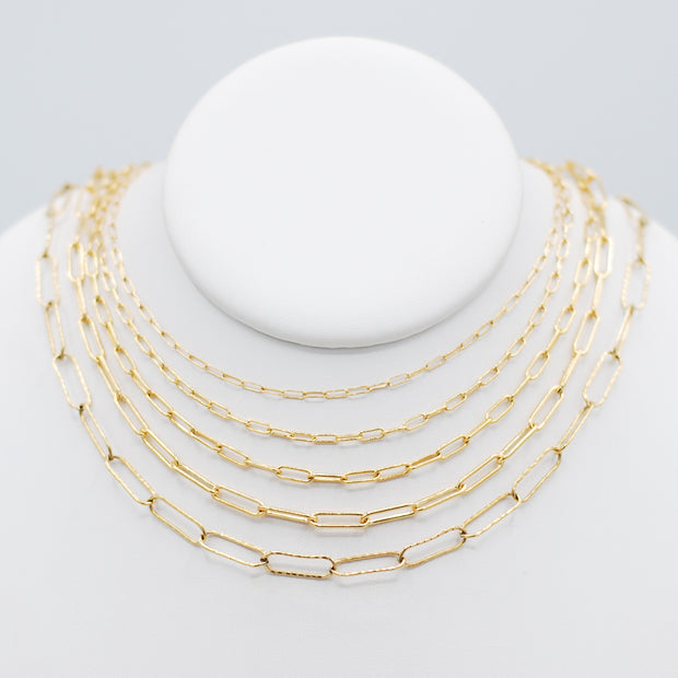 Goldfill Petite Paper Clip Layering Chain