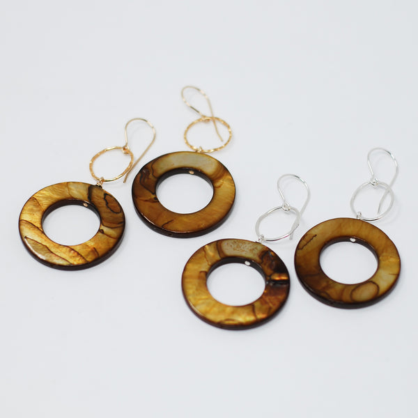 Mother of Pearl & Goldfill Earrings