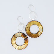 Mother of Pearl & Sterling Silver Earrings