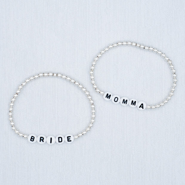 Name It 'Momma' 4mm Sterling Silver Bracelet