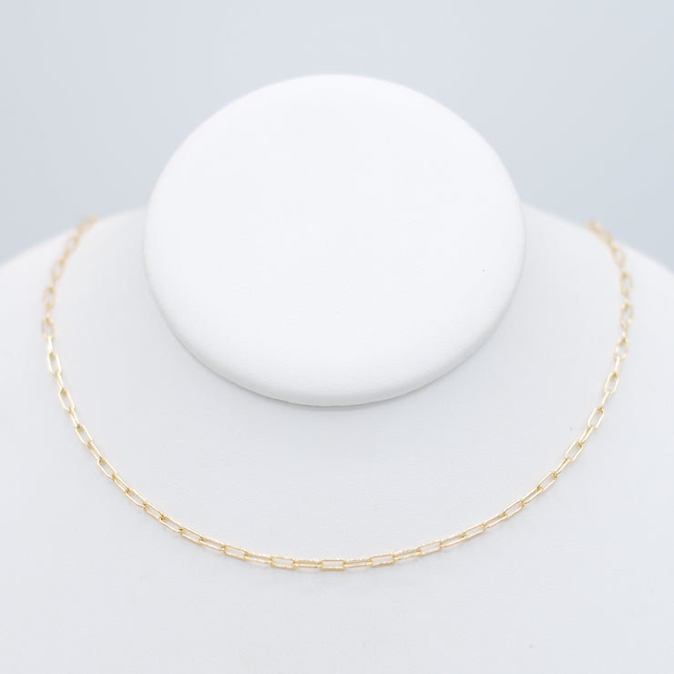 Goldfill Small Paper Clip Layering Chain