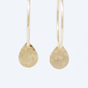 Goldfill Hammered Teardrop Hoop Drops