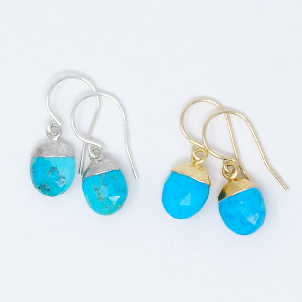 Turquoise & Goldfill Earrings
