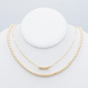 Goldfill Beaded Necklace Layering Set