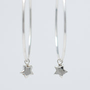 Hoops & Sterling Silver Star Drops