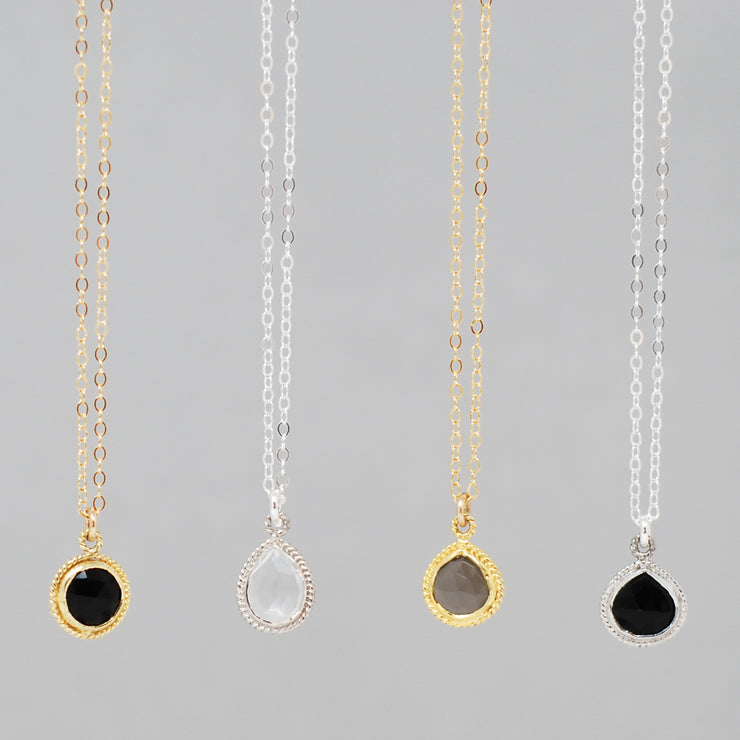 Black Onyx & Goldfill Necklace