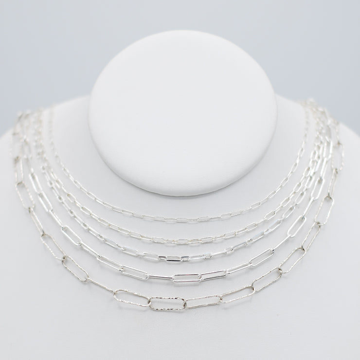 Sterling Silver Petite Paper Clip Layering Chain