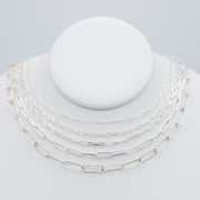 Sterling Silver Large Paper Clip Layering Chain