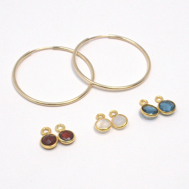 Hoops & Bezel Set Drop Set