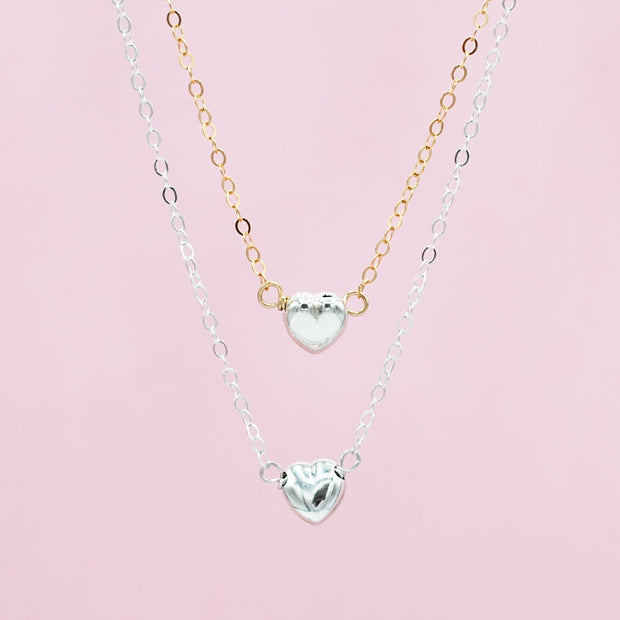 Sterling Silver Petite Heart Necklace