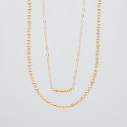 Goldfill Bead Necklace