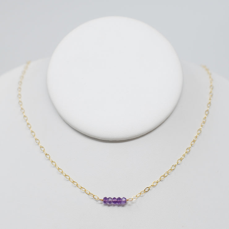 Amethyst & Goldfill School Spirit Necklace