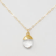 Crystal Quartz & Goldfill Necklace