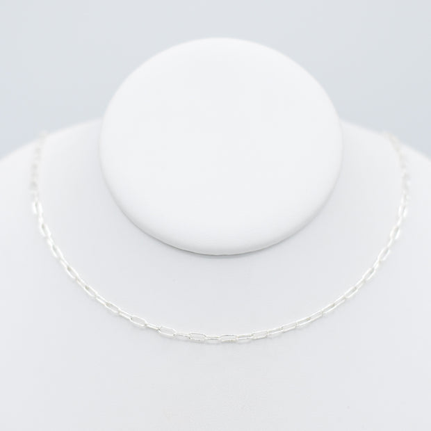 Sterling Silver Small Paper Clip Layering Chain