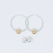 Hoop Earring & Ball Drop Set