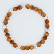 Natural Wood & Sterling Silver Bracelet