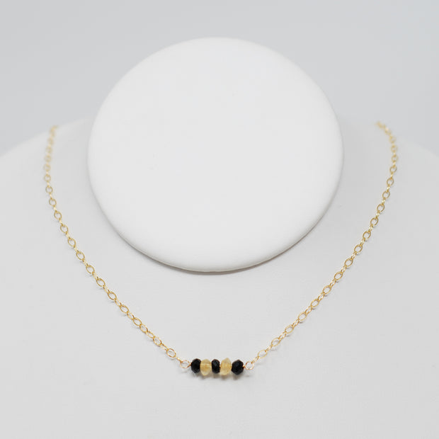 Black Onyx & Citrine School Spirit Necklace