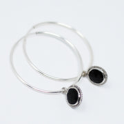 Hoops & Black Onyx Drops