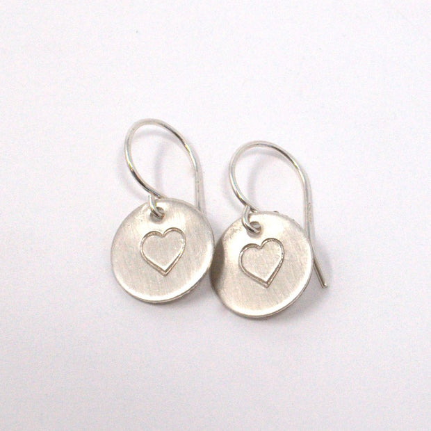 Personalized Heart Sterling Silver Earrings
